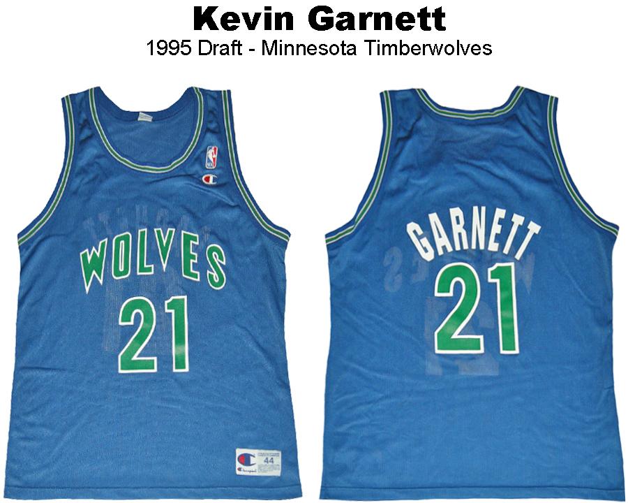 Kevin Garnett Minnesoata Timberwolves Blue