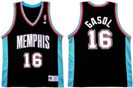 Pau Gasol Memphis Grizzlies Road Champion NBA Jersey Vest (2001-2002)