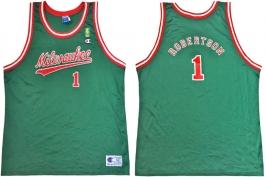 Oscar Robertson Milwaukee Bucks NBA 50th Anniversary Gold Logo Champion Classic Jersey