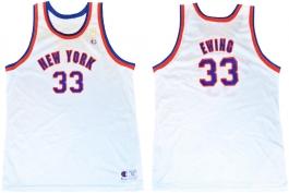 Patrick Ewing New York Knicks NBA 50th Anniversary Gold Logo Champion Retro Jersey