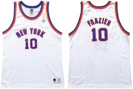 Walt Frazier New York Knicks NBA 50th Anniversary Gold Logo Champion Classic Jersey
