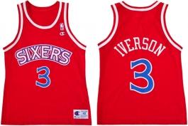 Allen Iverson Philadelphia Sixers Red