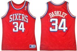 Charles Barkley Philadelphia Sixers Red 2