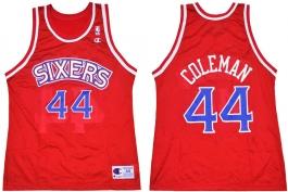 Derrick Coleman Philadelphia Sixers Red