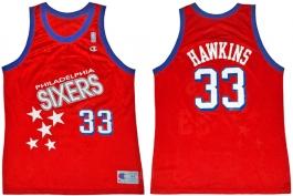 Hersey Hawkins Philadelphia Sixers Falling Stars
