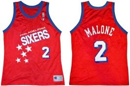 Moses Malone Philadelphia Sixers Falling Stars