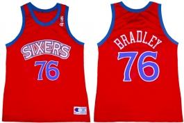 Shawn Bradley Philadelphia Sixers Red Blue Trim 2