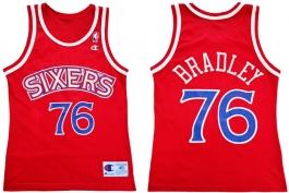 Shawn Bradley Philadelphia Sixers Red