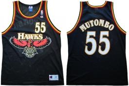 Dikembe Mutombo Atlanta Hawks Black