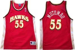 Dikembe Mutombo Atlanta Hawks Red