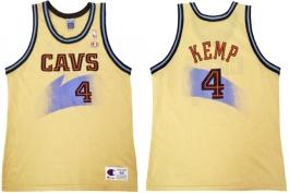 Shawn Kemp Cleveland Cavaliers Champion Gold NBA Jersey