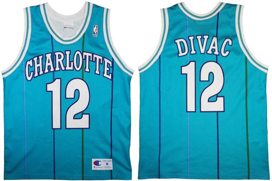 008de2635c1 Vlade Divac Charlotte Hornets Blue Pinstripe European