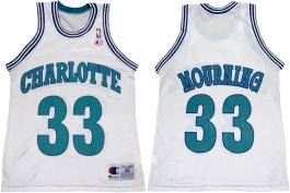 Alonzo Mourning Charlotte Hornets White