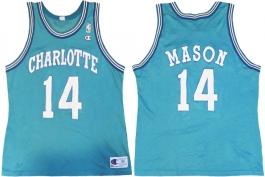 Anthony Mason Charlotte Hornets Blue