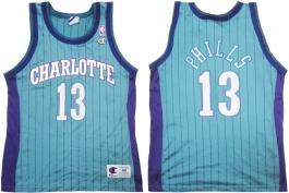 Bobby Phills Charlotte Hornets Blue Pinstripe