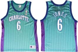 Eddie Jones Charlotte Hornets Blue Pinstripe