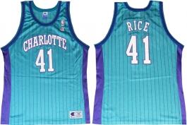 Glen Rice Charlotte Hornets Blue Pinstripe