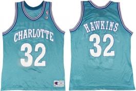 Hersey Hawkins Charlotte Hornets Blue 32