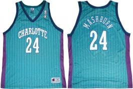 Jamal Mashburn Charlotte Hornets Blue Pinstripe