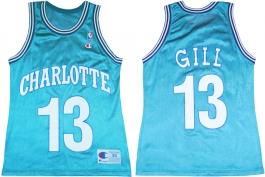 Kendall Gill Charlotte Hornets Blue