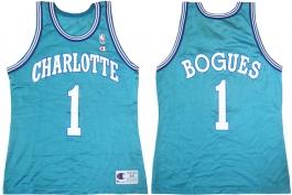 Muggsy Bogues Charlotte Hornets Blue