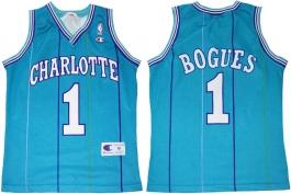 Muggsy Bogues Charlotte Hornets Blueu Pinstripe European