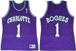 Muggsy Bogues Charlotte Hornets Purple