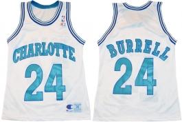 Scott Burrell Charlotte Hornets White