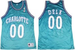 Tony Delk Charlotte Hornets Blue