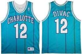 Vlade Divac Charlotte Hornets Blue Pinstripe European