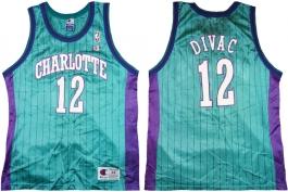 Vlade Divac Charlotte Hornets Blue Pinstripe