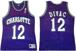 Vlade Divac Charlotte Hornets Purple