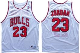 Michael Jordan Bulls White 23 Inverse Collar
