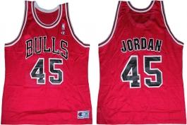 Michael Jordan Chicago Bulls Red 45