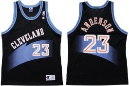 Derek Anderson Cleveland Cavaliers Black 1996