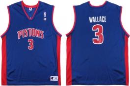 Ben Wallace Detroit Pistons Blue Vest