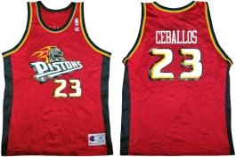 Cedric Ceballos Detroit Pistons Alternate