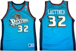 Christian Laettner Detroit Pistons Teal