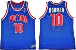 Dennis Rodman Detroit Pistons Blue