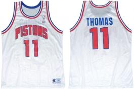 Isiah Thomas Detroit Pistons White 2