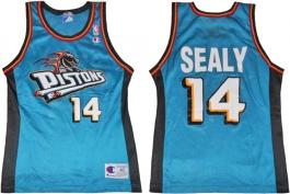 Malik Sealy Detroit Pistons Teal