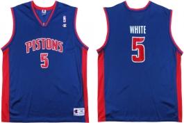 Rodney White Detroit Pistons Blue Vest