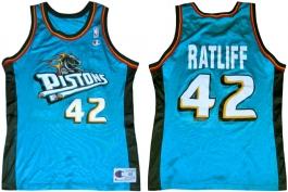 Theo Ratliff Detroit Pistons Teal