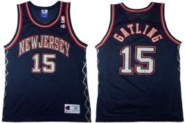 Chris Gatling NJ Nets Navy New