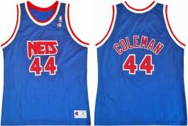 Derrick Coleman New Jersey Nets Blue