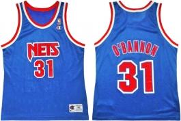 Ed O'Bannon NJ Nets Blue