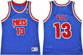 Kendall Gill NJ Nets Blue