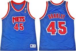 Shawn Bradley New Jersey Nets Blue