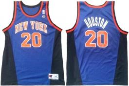 Alan Houston New York Knicks Blue Alternate