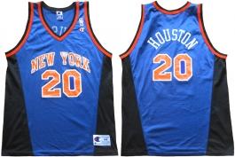 Allan Houston New York Knicks Blue Vneck